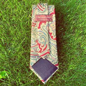 RALPH LAUREN CHAPS Vintage Silk Paisley Print Tie